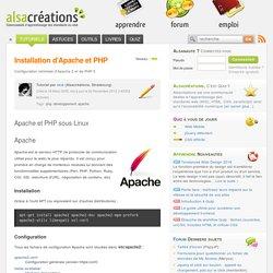 Installation d'Apache et PHP