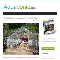 L'installation aquaponique en serre de Gaël