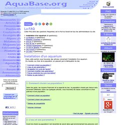 Installation d'un aquarium