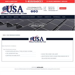 Solar Attachments Services New Jersey
