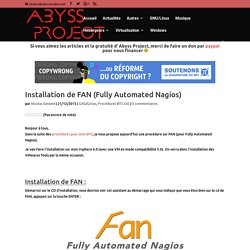 Installation de FAN (Fully Automated Nagios)
