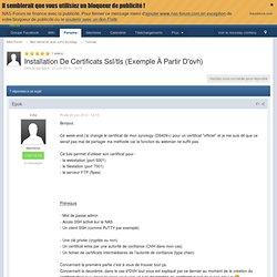 Installation De Certificats SSL/TLS