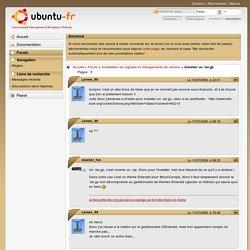 installer un .tar.gz (Page 1) / Installation de logiciels et changements de version