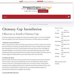 Chimney Cap Installation - Chicagoland Fireplace & Chimney Restoration