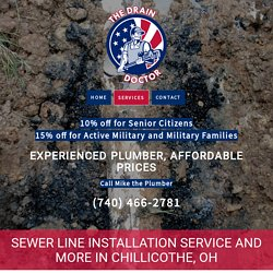 Sewer Line Installation in Chillicothe, OH