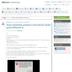Tools installation problem: host Ubuntu 13.04 g...