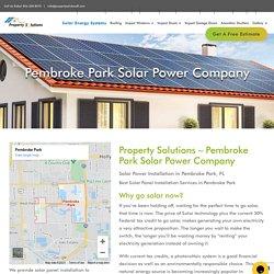Solar Panel Installation in Pembroke Park