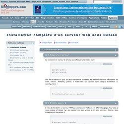 Installation complète d'un serveur web sous Debian