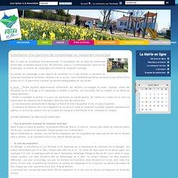 Installation d'un pavillon de compostage - La commune du Poiré sur Vie