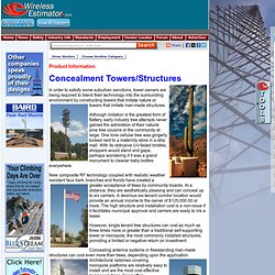 Wireless Estimator - Towers/Installation - Specialty Towers/Concealment - Material