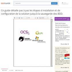 ⭐Ce guide détaille pas à pas les étapes d installation et de configuration de la solution jusqu'à la sauvegarde des BDD.