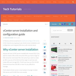 vcenter server installation and configuration guide