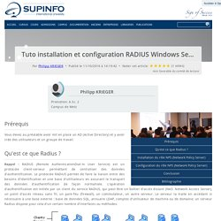 Tuto installation et configuration RADIUS Windows Server 2012