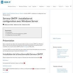 Serveur SMTP : installation et configuration avec Windows Server - RDR-IT