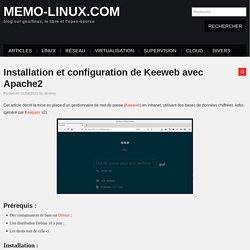 Installation et configuration de Keeweb avec Apache2