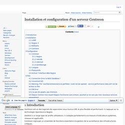 Installation et configuration d'un serveur Centreon