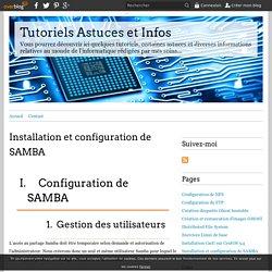 Installation et configuration de SAMBA - Tutoriels Astuces et Infos