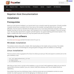 Installation and configuration - Repetier-Host doumentation