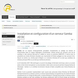 Installation et configuration d'un serveur Samba AD AC - AnnoraTuto