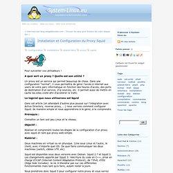 Installation et Configuration du Proxy Squid