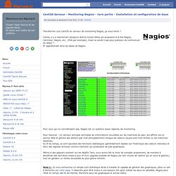 CentOS Serveur - Monitoring Nagios - 1ere partie - Installation et configuration de base - Mgroup.fr