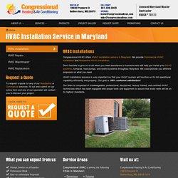 HVAC Installation Service in Maryland