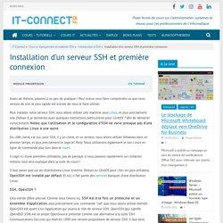 Installation d'un serveur SSH et première connexion