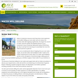 Water Well Drilling UK