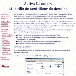 """Windows 2008 : Installation de Active Directory et du rôle """"Contrôleur de domaine"""""""