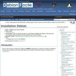 Installation Debian / Wiki
