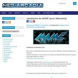 Installation de MAME (pour débutants) – Neo-Arcadia