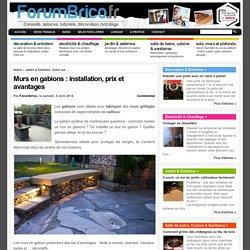 Murs en gabions : installation, prix et avantages
