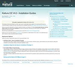 CE V4.0 - Installation Guides