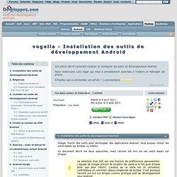 vogella - Installation des outils de développement Android