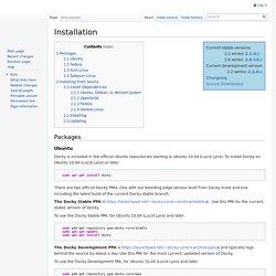 Installation - Docky