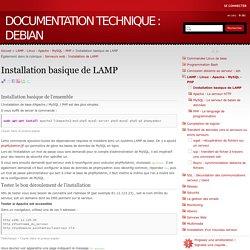 Installation basique de LAMP - Documentation technique : Debian