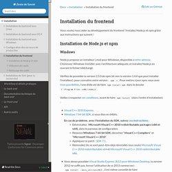 Installation du frontend — documentation Zeste de Savoir 1.0