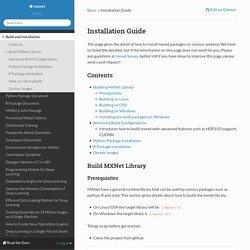 Installation Guide — mxnet 0.5.0 documentation