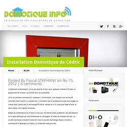 Installation Domotique de Cédric