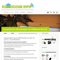 Installation Domotique de Clément Storck