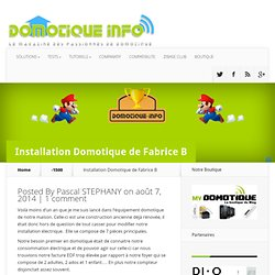 Installation Domotique de Fabrice B