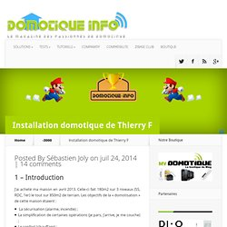 Installation domotique de Thierry F
