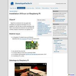 Installation X10 sur un Raspberry Pi - DomotiqueFacile.fr