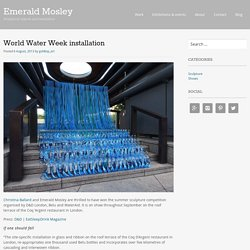 World Water Week installation – Emerald Mosley