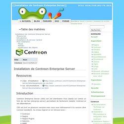 Installation de Centreon Enterprise Server