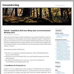 Tutoriel : Installation GLPI avec Wamp dans un environnement Windows 2012