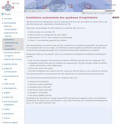 Installation automatisée des systèmes d'exploitation — Français