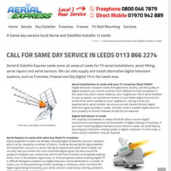 TV Aerial Installation by Aerial Fitters in Leeds - Aerial & Satellite Express