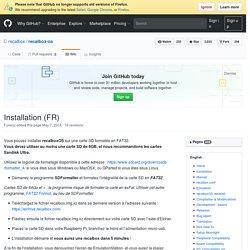 Installation (FR) · recalbox/recalbox-os Wiki