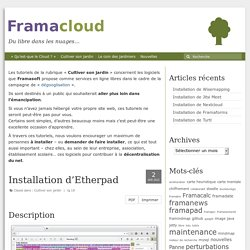 Installation d'Etherpad – Framacloud